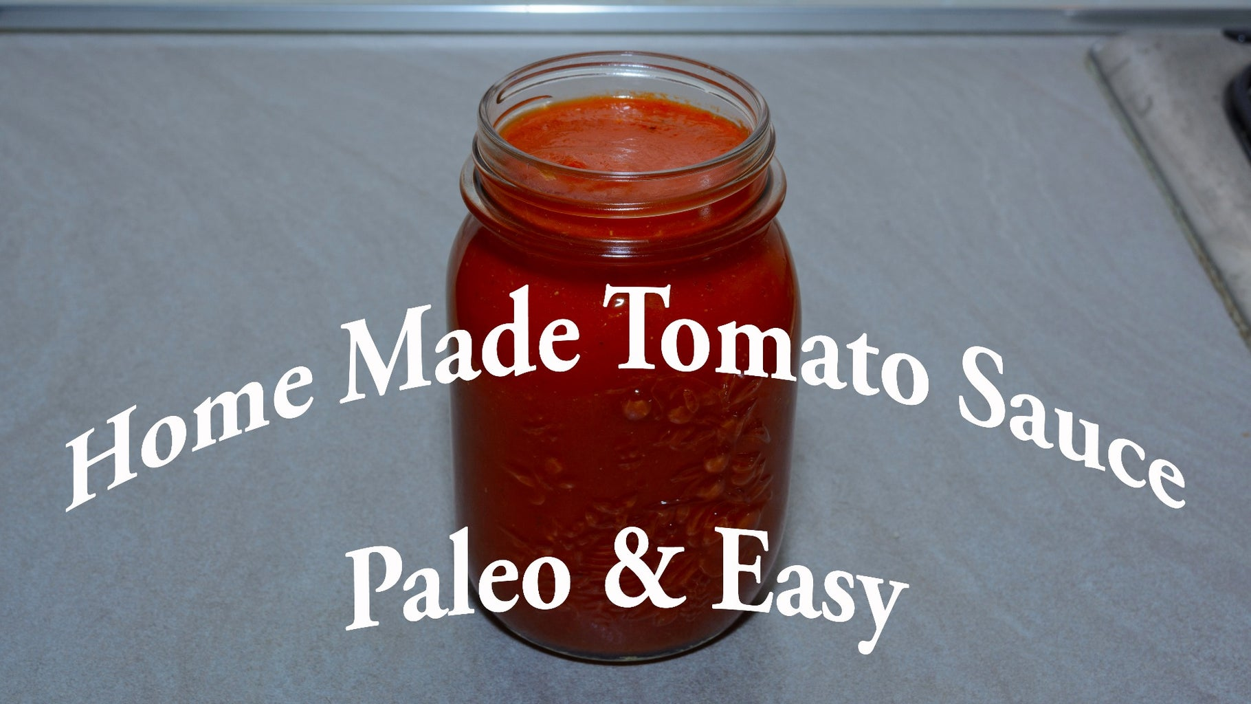 Homemade Tomato Sauce Paleo
