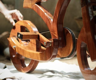 Handmade Wooden Bicycle