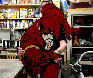 The Flash - Wall Art - MDF Project