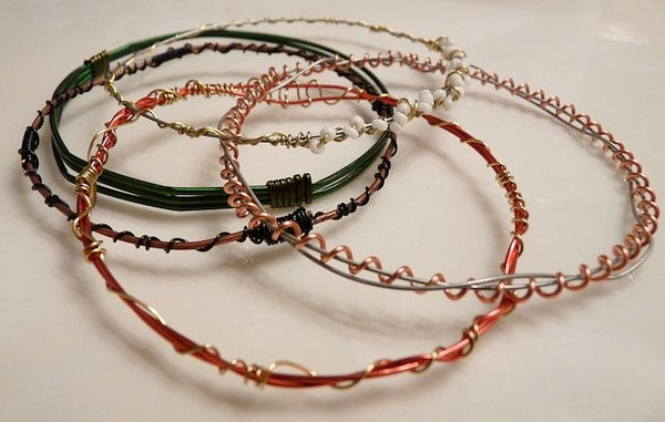 Quick Wire Bangles
