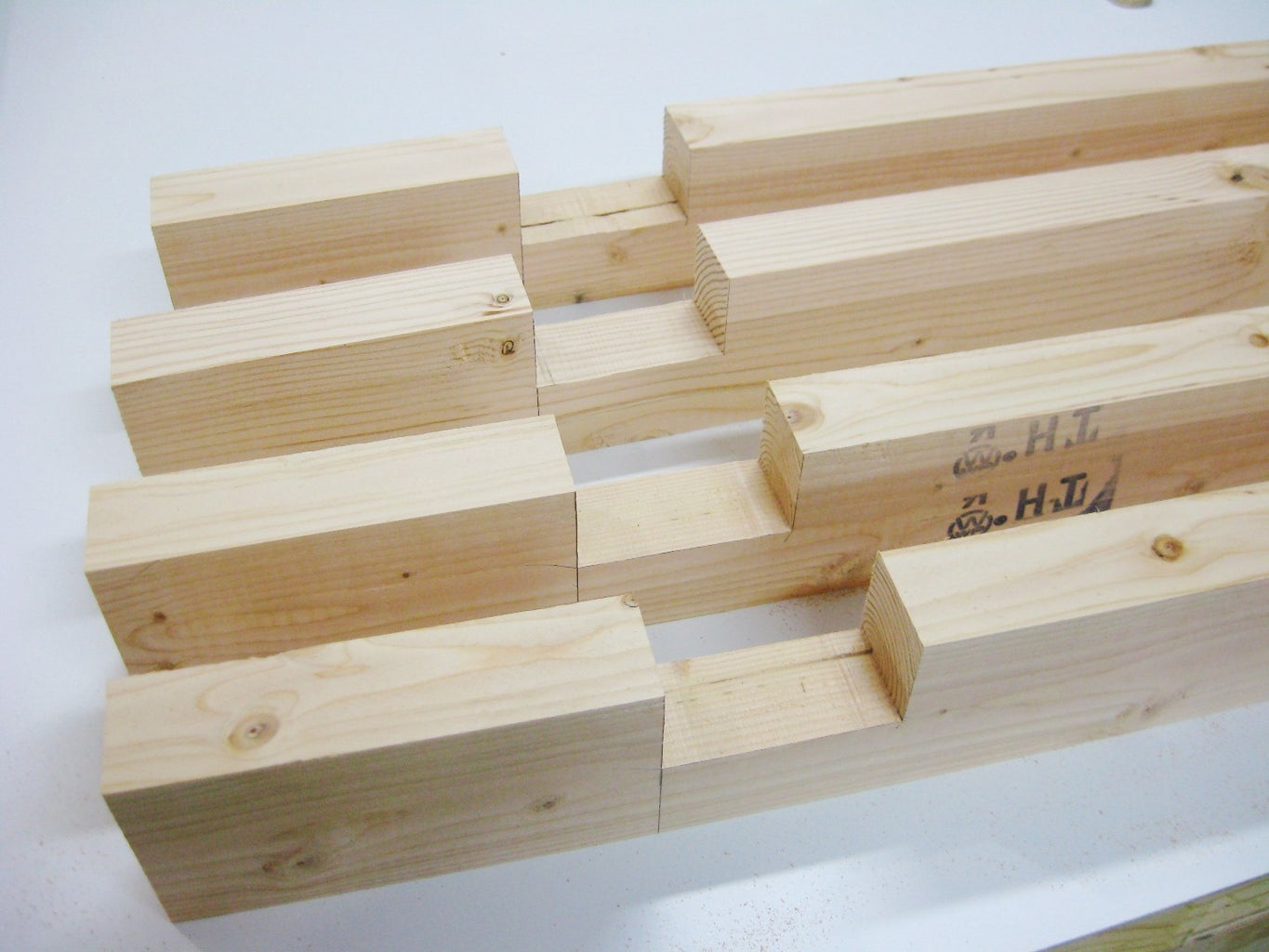 Cut Boards for Frame