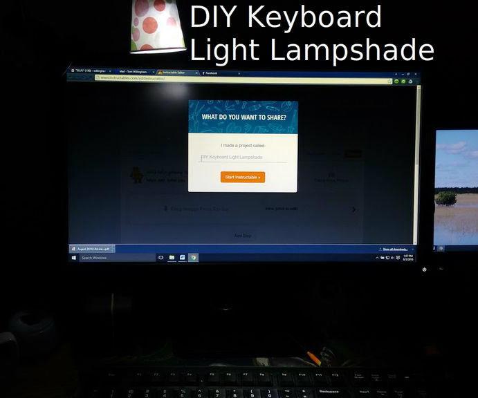 DIY Keyboard Light Lampshade