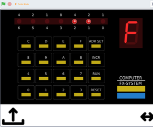 Radio Shack Microcomputer Trainer Emulator in Scratch