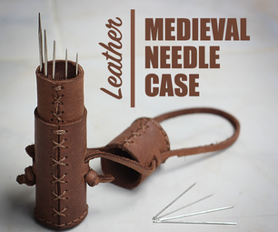 Medieval Leather Needle Case