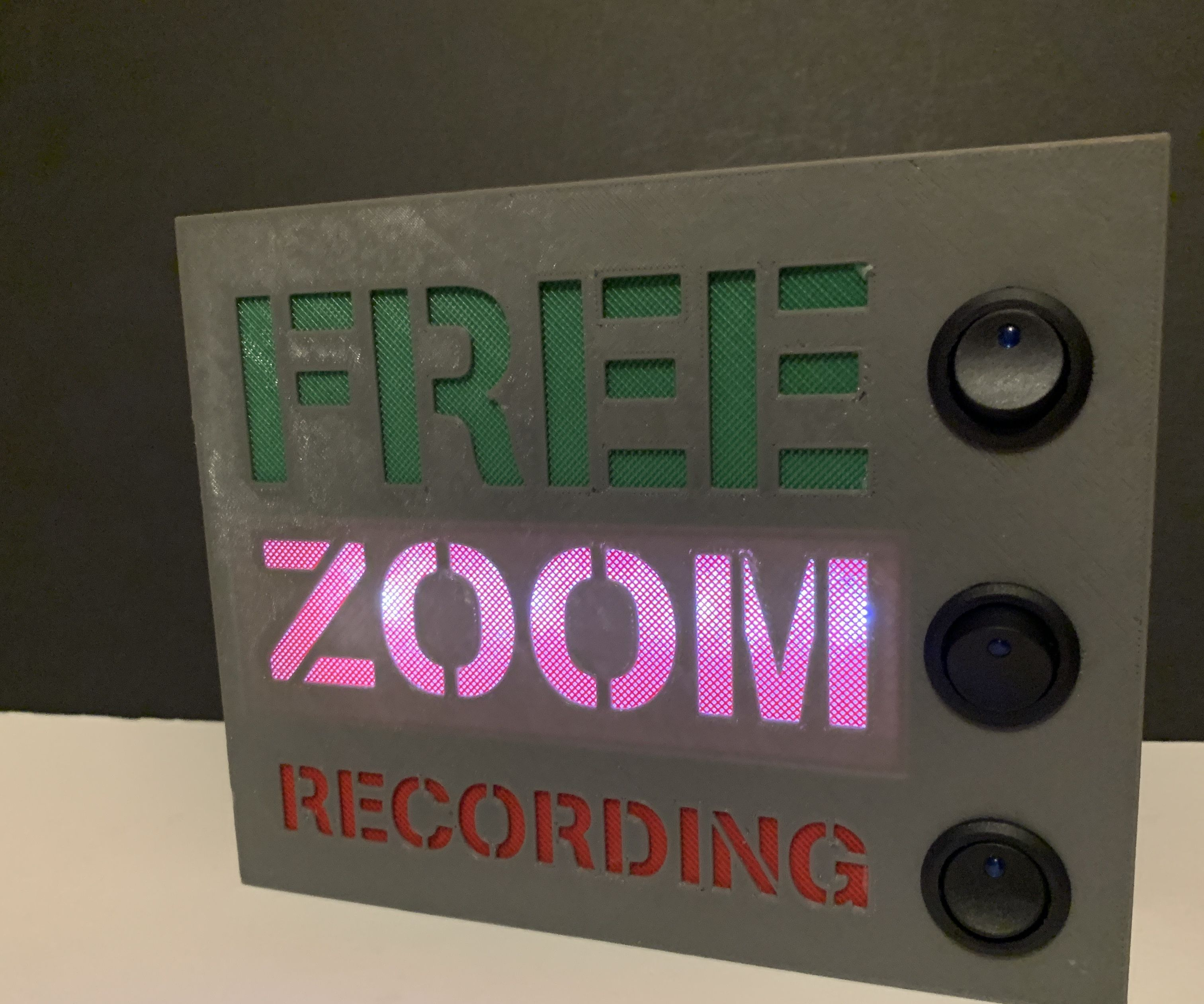 Working From Home Light Up Room Sign