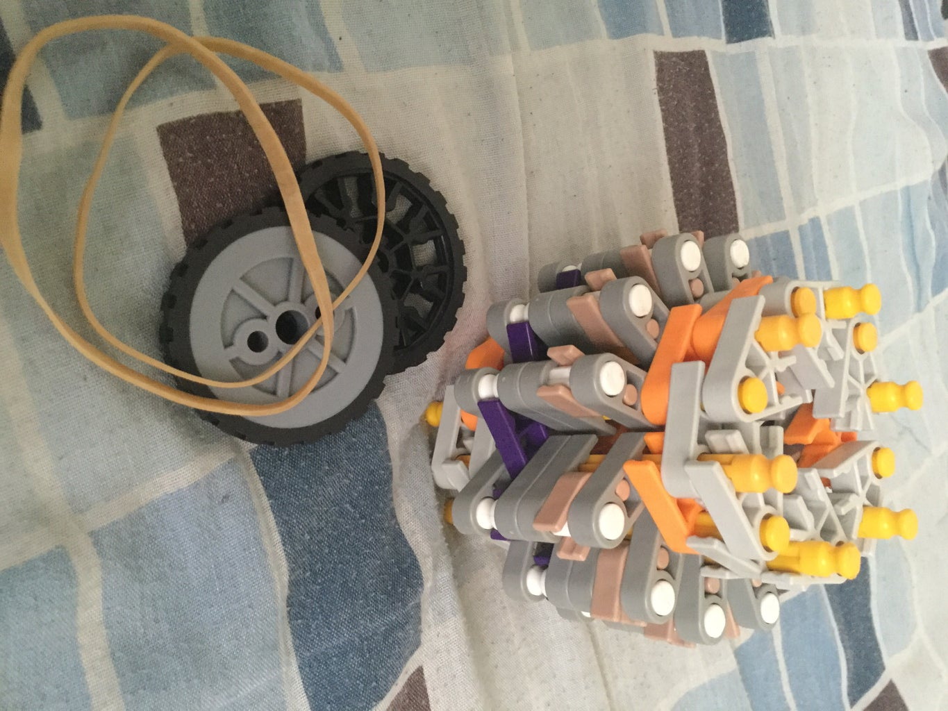 Adding the Wheels + Rubber Bands