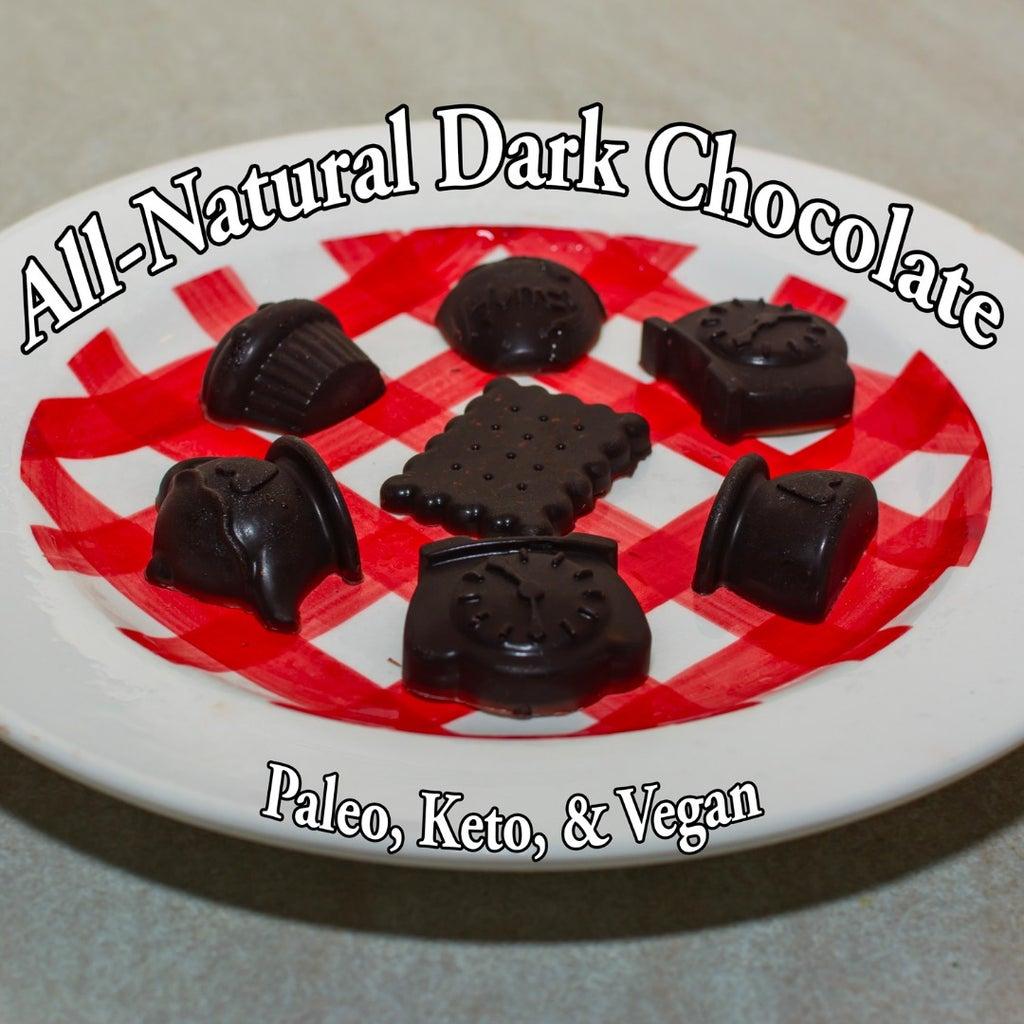 All Natural Paleo Keto Vegan Dark Chocolate