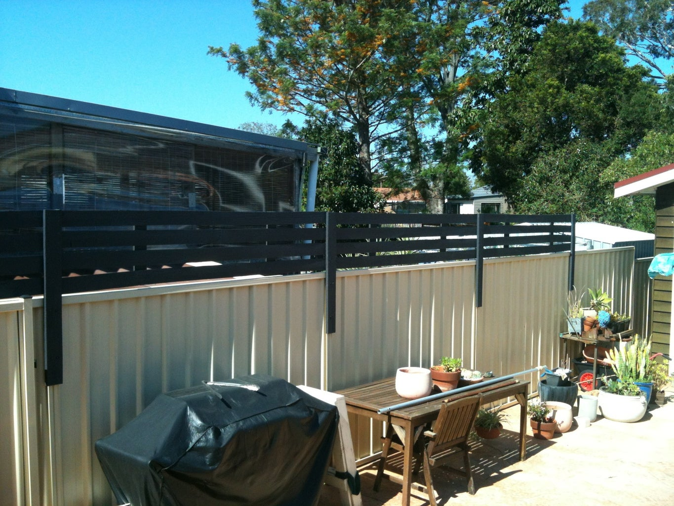 Wood Privacy Screen to Attach to Colourbond Fence