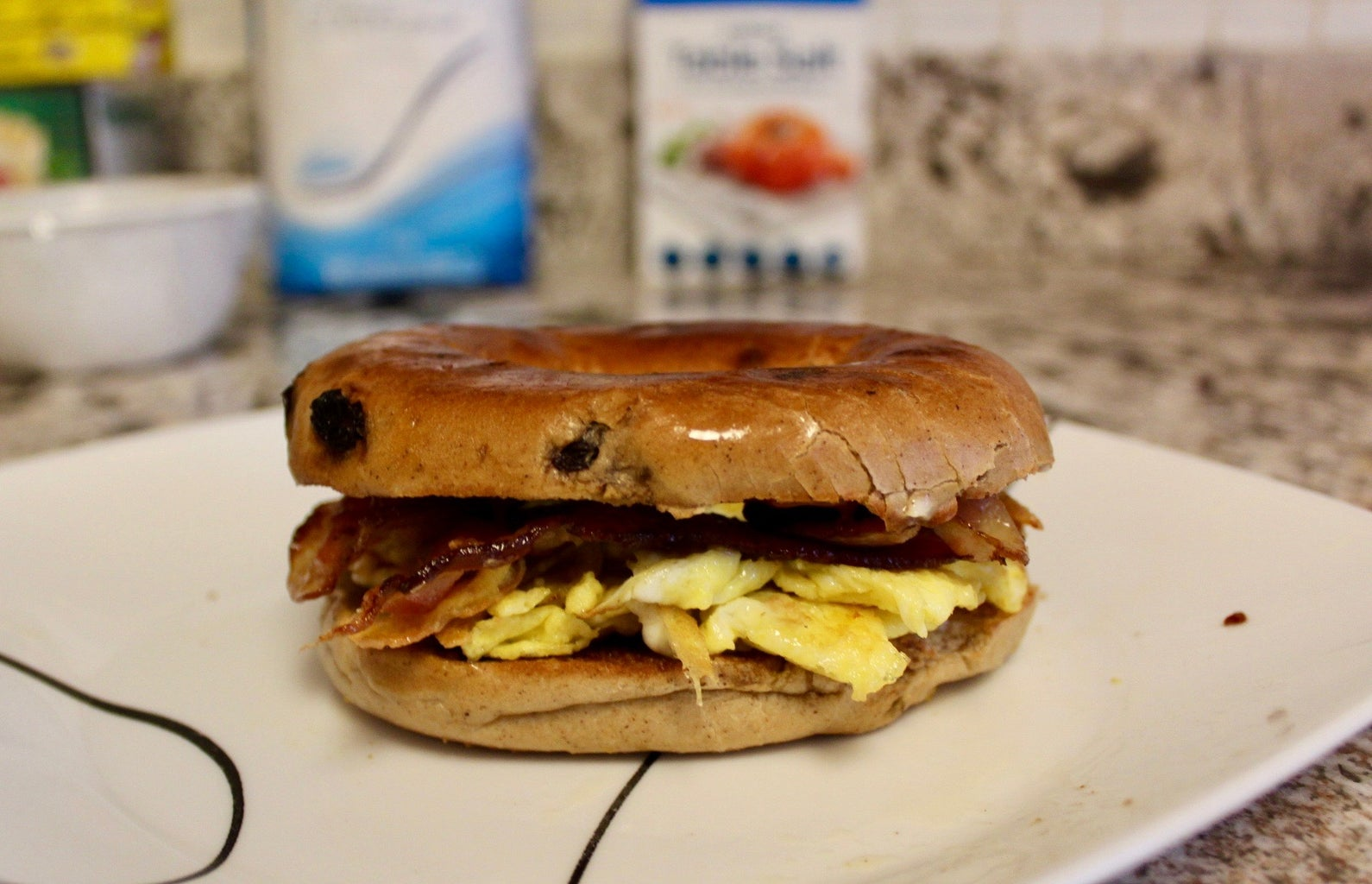 Assembling the Bagel Sandwich