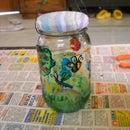 Painted Jar Lamps