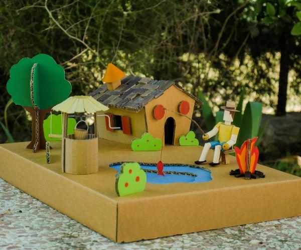 Cardboard House and Garden