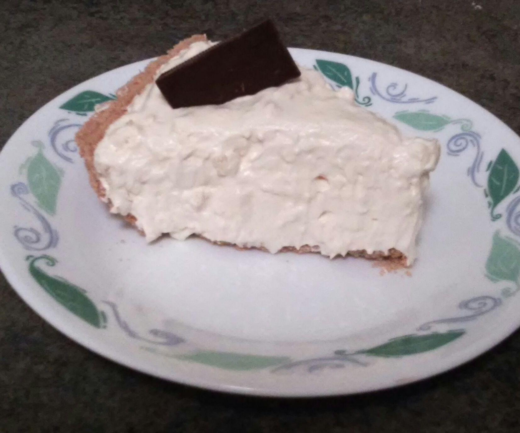 No Bake Eggnog Pie