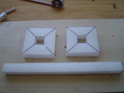 Cut the PE or Styrofoam