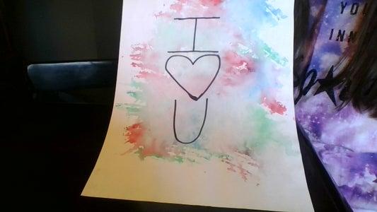 DIY Paint Splatter Heart for a Loved One
