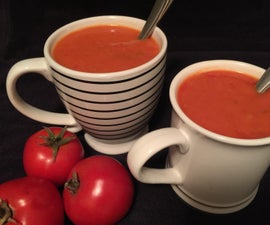 Homemade Garden Fresh Tomato Soup (with Vegetarian/Vegan Options)