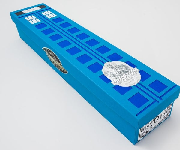 TARDIS-inspired Fitted Wand Box