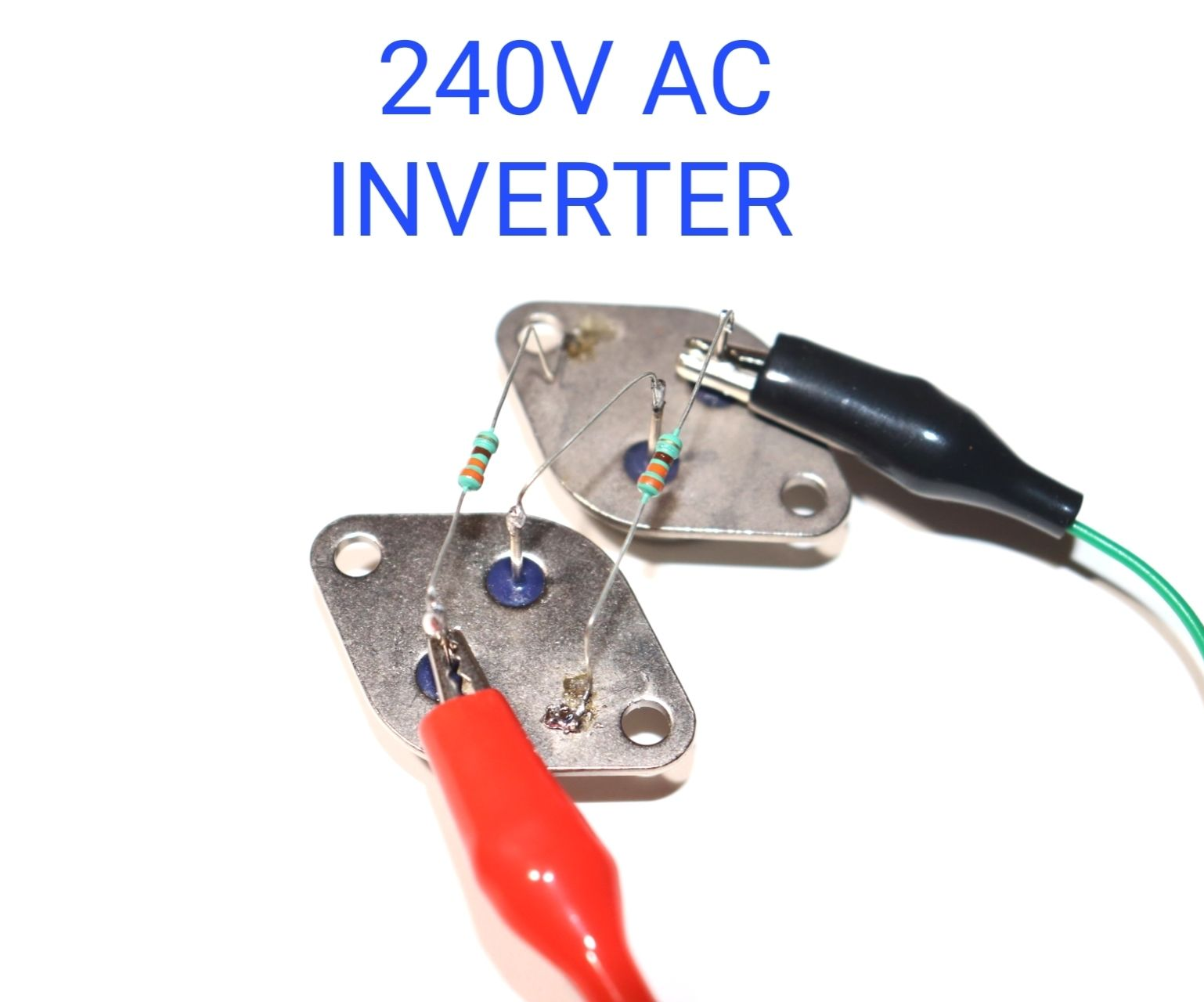 How to Make 220V INVERTER Using 3055 Metal Double Transistor