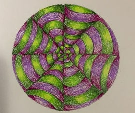 RIPPLED PAPER DRAWING