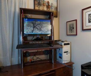 Sit&Stand Computer Desk Hutch