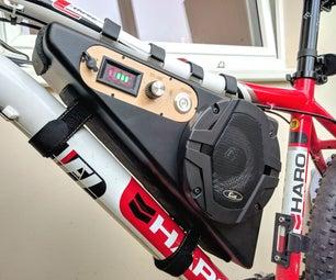 无线自行车安装蓝牙音箱