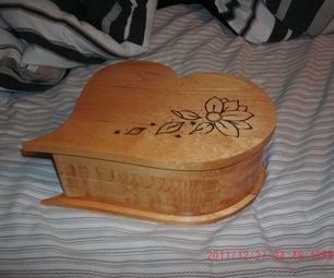 Decorative Heart Shaped Box