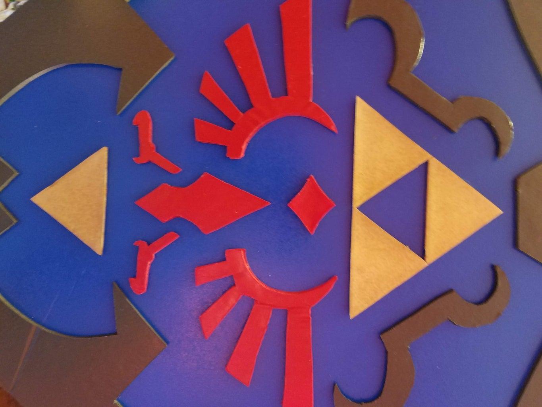3D Relief Shield Wall Art (Hylian Shield, Ocarina of Time)