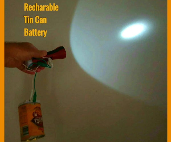 Recharable Tin Can Battery