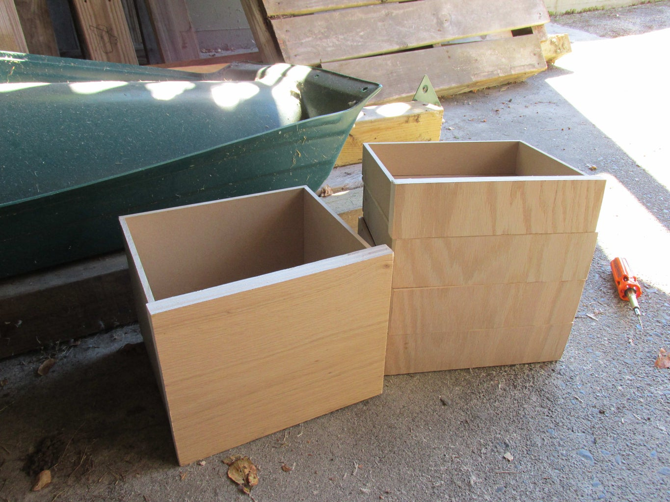Assemble Front of Drawers