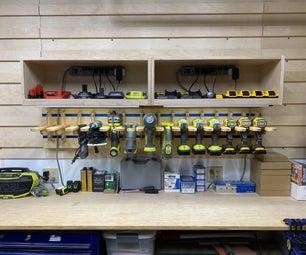 Adjustable Width Tool Charging Station