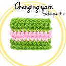 How to change yarn in Crochet (technique #1)