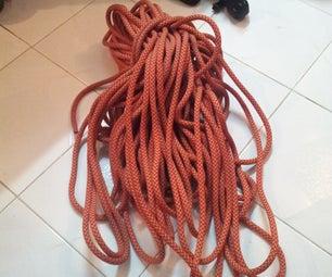 How to wash your climbing rope using washing machine