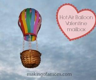Hot Air Balloon Valentine Mailbox
