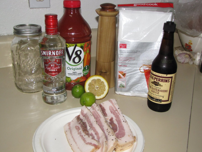Homemade Bacon Vodka - (Bloody Mary)