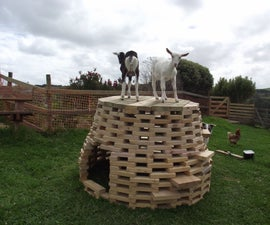A Post Apocalypse, Post Global Warming Igloo OR the Playhive - a Climbing Frame for Baby Goats or Children