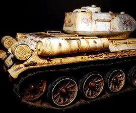 Weathering T34/85 Rc Tank