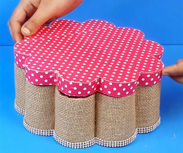 Make an Organizer Using Cylindrical Cardboard Pipes?