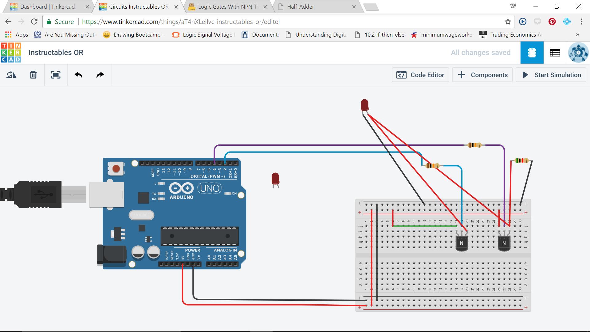 Logic Gates With NPN Transistors