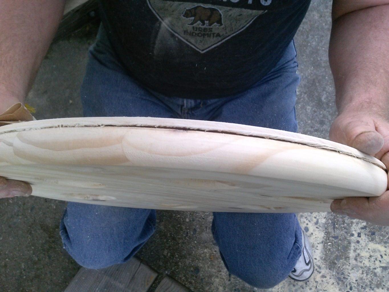 Cut, Sand, and Glue Wood Base