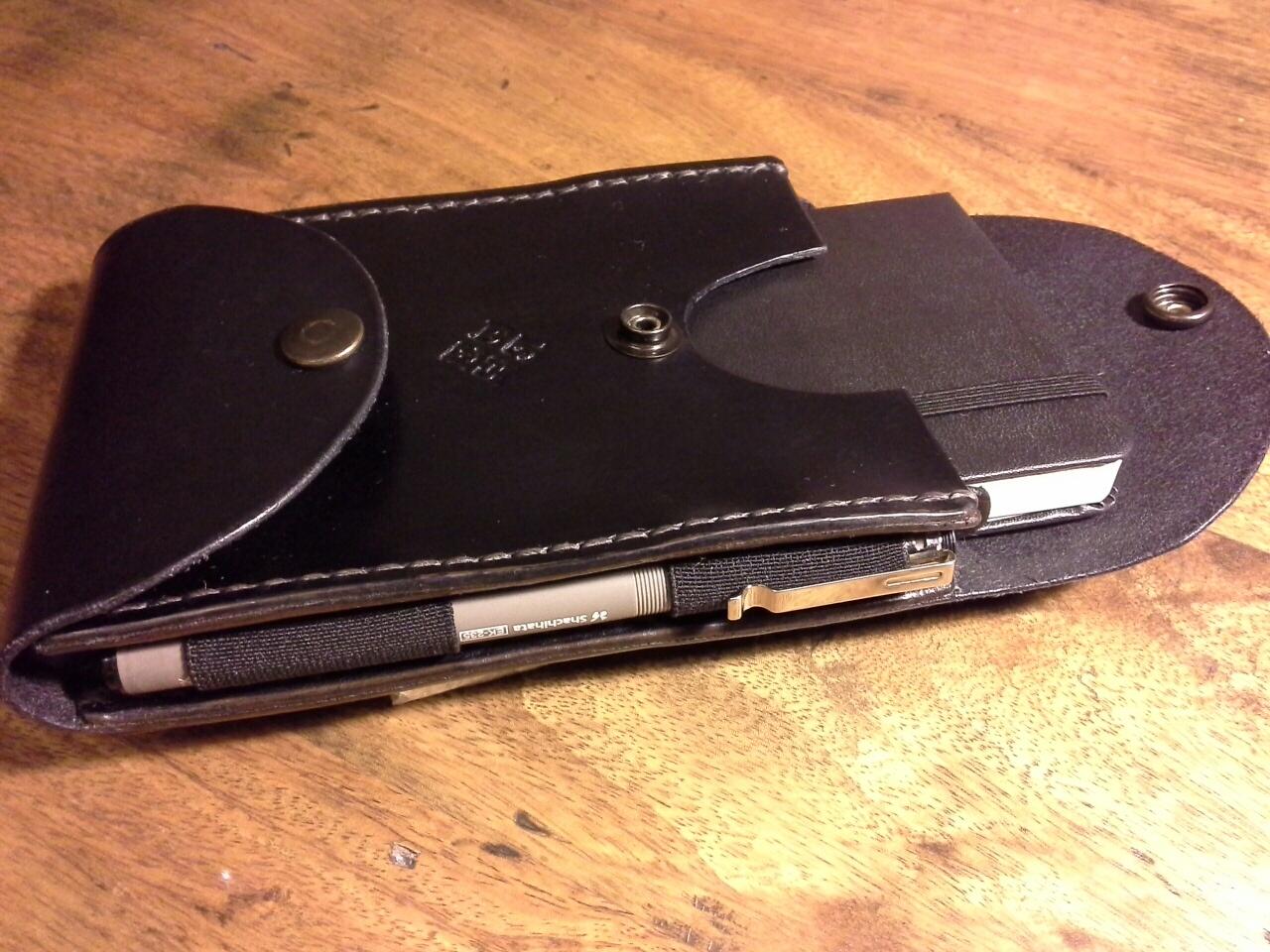 How to make a leather belt case for a pocket Moleskine notebook - with penholder - or other similar stuff..