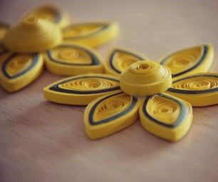 Quilling Yellow Flower