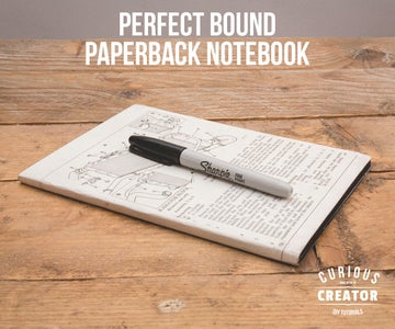 Perfect Bound Paperback Notebook