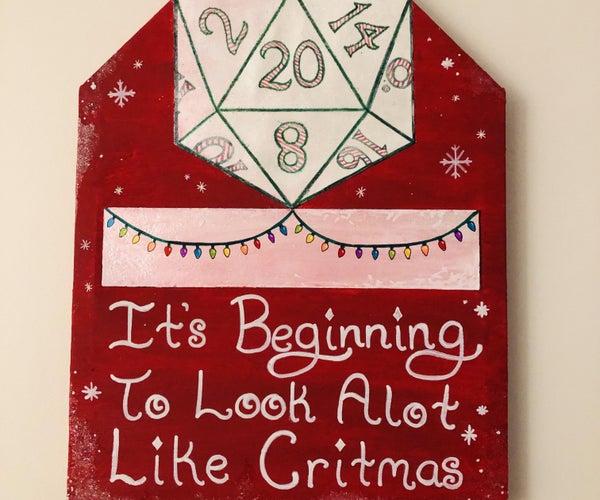 Merry Critmas DND Sign