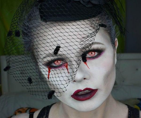 Dead Widow Halloween Makeup Tutorial