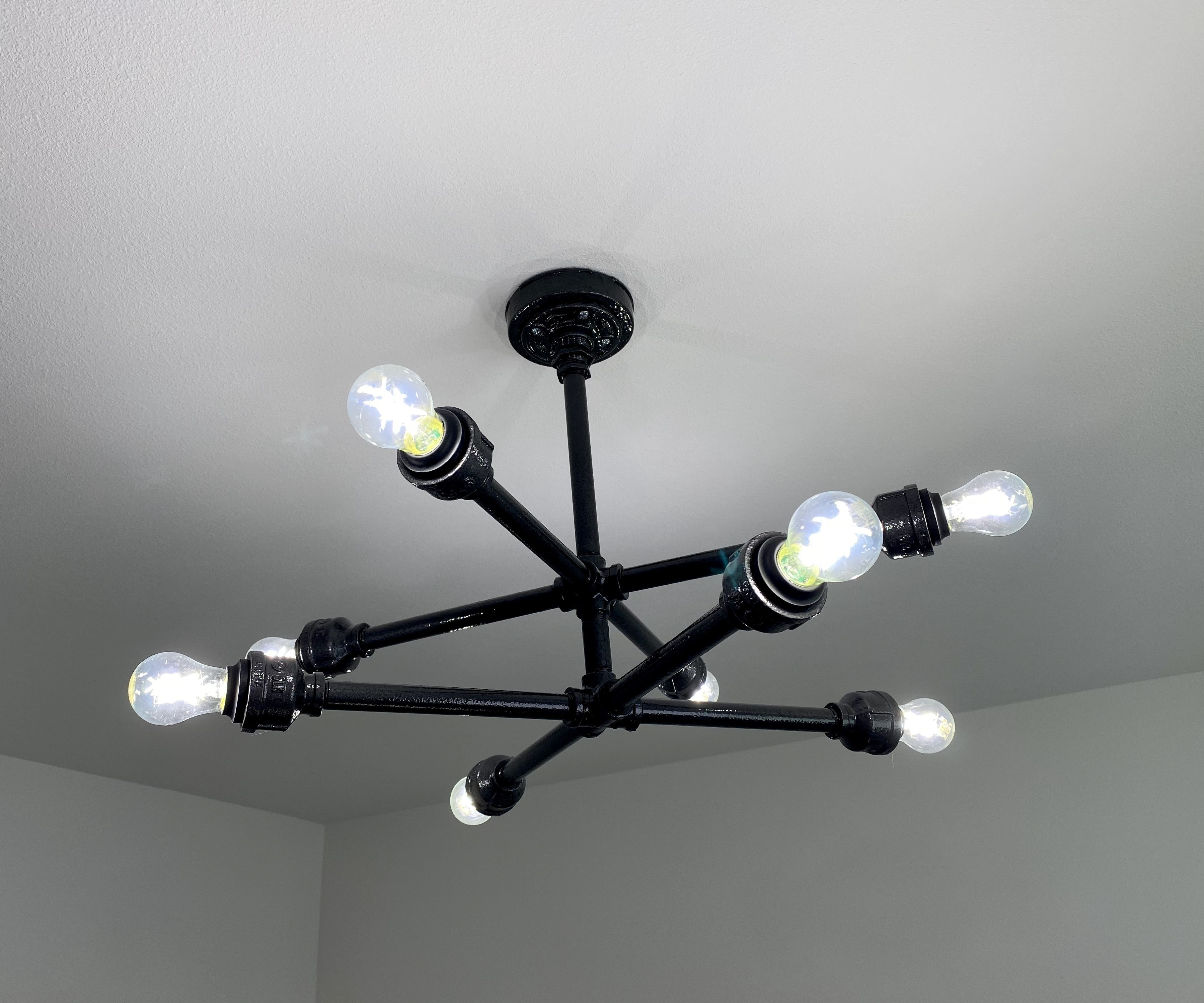 Black Pipe Ceiling Light 6 Steps With Pictures Instructables