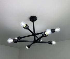 Black Pipe Ceiling Light