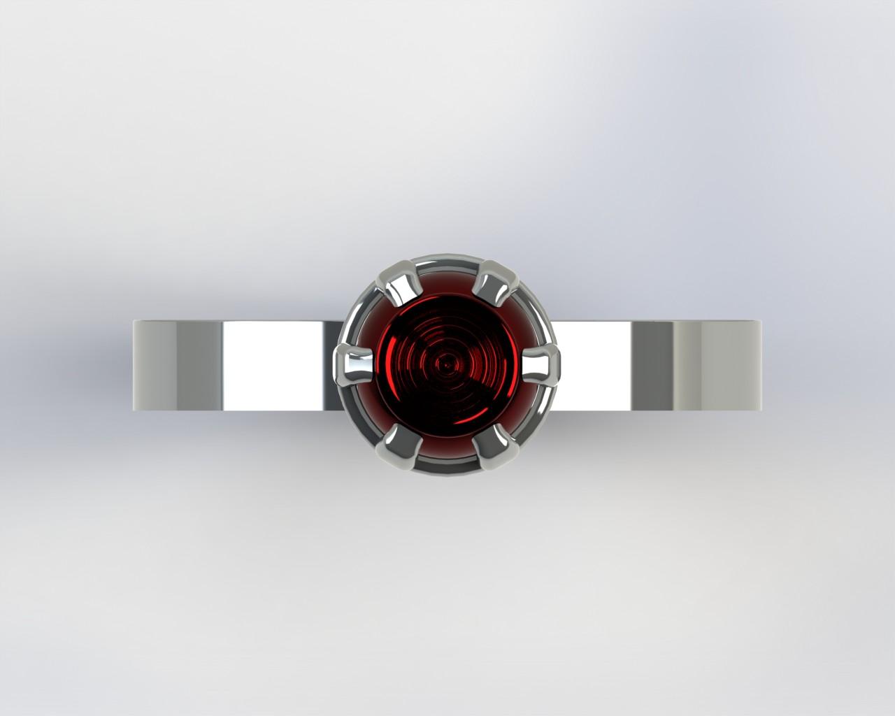 3D Gemstone Ring