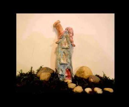 DIY Tall Fairy House In Polymer Clay