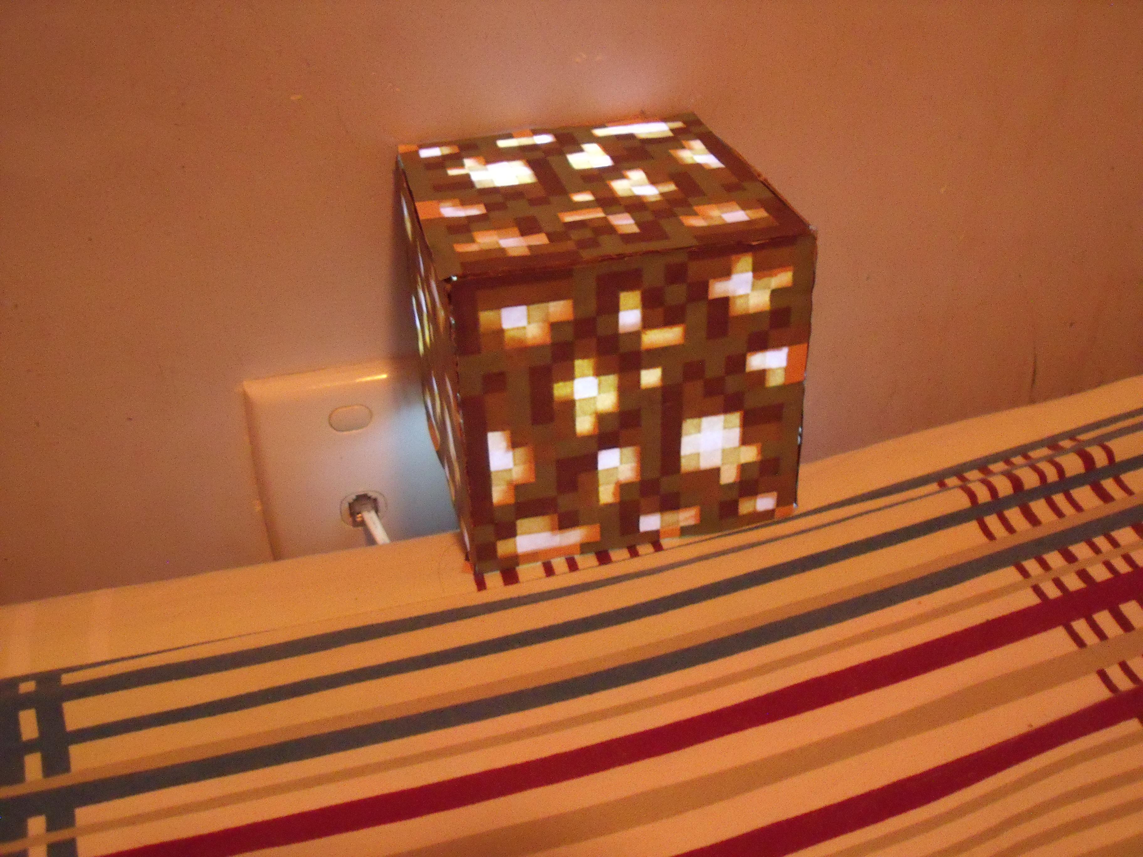 DIY glowstone lamp