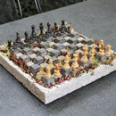 Concrete Chessboard Planter