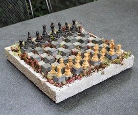 Concrete Chessboard Planter